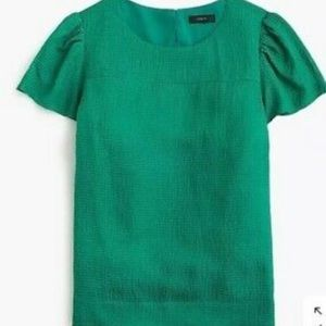 J. CREW | hammered silk blend top green 4